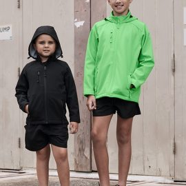 The Aussie Pacific Kids Olympus Softshell Jacket is a 320gm 3 layer performance softshell.  8 colours.  6 - 16.  Great Aussie Pacific softshell jackets.