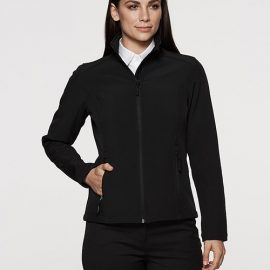 The Aussie Pacific Ladies Selwyn Softshell Jacket is a 2 layer performance softshell.  Water repellent, wind resistant.  3 colours.  Great softshell jackets.