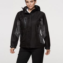 The Aussie Pacific Ladies Sheffield Jacket is a polyester twill jacket with a brushed fleece inner.  3 colours.  8 - 22.  Great branded waterproof jackets.