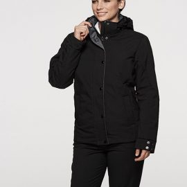 The Aussie Pacific Ladies Parklands Jacket has a polyester satin finish outer, with inner taffeta lining.  2 colours.  8 -  22.  Great branded winter jackets.