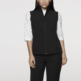 The Aussie Pacific Ladies Olympus Softshell Vest is a 320gm 3 layer performance softshell.  4 colours.  8 - 22.  Great Aussie Pacific softshell jackets.
