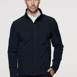 The Aussie Pacific Mens Selwyn Softshell Jacket is a 2 layer performance softshell.  Water repellent, wind resistant.  3 colours.  Great softshell jackets.