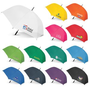 The Trends Collection Hydra Sports Umbrella is a premium auto opening 76cm, 8 panel sports umbrella.  13 colours.  Great branded promotional umbrellas.