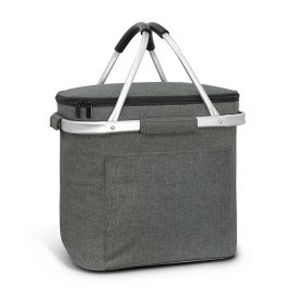 The Trends Collection Iceland Cooler Basket is a 16 litre cooler basket with aluminium frame.  Folds Flat.  Grey.  Great branded cooler bags and baskets.