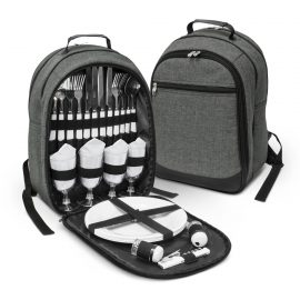 The Trends Collection Arcadia Picnic Backpack is a 4 person picnic backpack.  Available in Grey. Multiple branding options.  Great branded picnic sets.