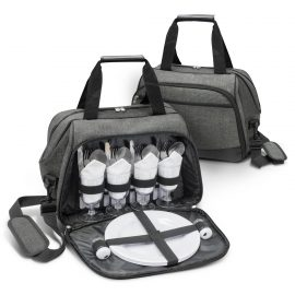 The Trends Collection Hampton Picnic Bag is a classically designed 4 person picnic bag.  In Grey.  Multiple branding options.  Great branded picnic sets.