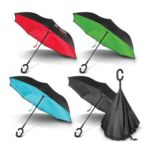 The Trends Collection Gemini Inverted Umbrella is an 8 panel inverted umbrella. 4 colours. Print or digital transfer. Great branded inverted umbrellas.
