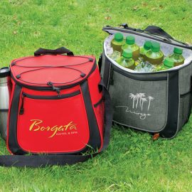 The Trends Collection Aspiring Cooler Bag is a cooler bag with zip closure and elastic lacing.  8 colours.  Great branded corporate cooler bags.