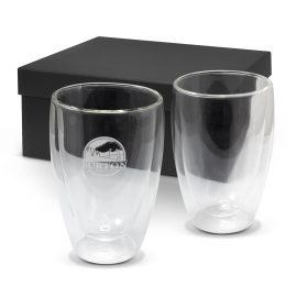 The Trends Collection Tivoli Double Wall Glass Set is an exquisite set of 2 x 410ml double wall glasses.  Black Box.  Great branded corporate gifts.