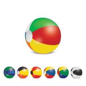 The Trends Collection Beach Ball 34cm is a mix and match coloured beach ball.  6 sizes available.  Screen printed.  Great branded summer promo products.