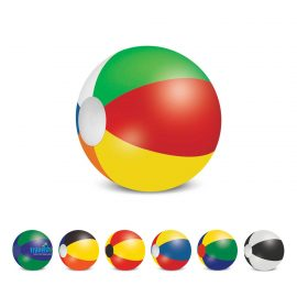 The Trends Collection Beach Ball 40cm is a mix and match coloured beach ball.  6 sizes available.  Screen printed.  Great branded summer promo products.