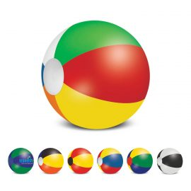 The Trends Collection Beach Ball 48cm is a mix and match coloured beach ball.  6 sizes available.  Screen printed.  Great branded summer promo products.
