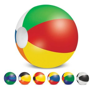 The Trends Collection Beach Ball 60cm is a mix and match coloured beach ball. 6 sizes available. Screen printed. Great branded summer promo products.