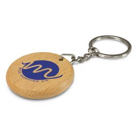 The Trends Collection Artisan Key Ring Circle is a natural wood keyring with a shiny chrome split key ring.  Great eco friendly promo key ring.