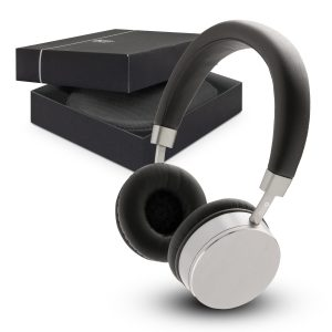 The Trends Collection Swiss Peak Headphones combine functionality with fashion.  Silver/Black.  Bluetooth.  Great branded premium headphones.