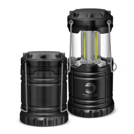 The Trends Collection Aurora COB Lantern is an extremely bright lantern that is powered by 3 bright light modules.  Black. Great branded lanterns.