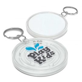 The Trends Collection Puzzle Key Ring is a novel anti stress key ring with puzzle. In White. Great branded practical key rings for your clients.