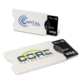 The Trends Collection RFID Card Protector is a strong plastic credit card holder.  Metal foil lining that protects chipped cards from theft.  Great security products.