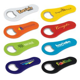 The Trends Collection Max Magnetic Bottle Opener is a plastic and metal bottle opener with a strong magnet.  8 colours.  Great branded magnetic bottle openers.