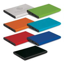 The Trends Collection Zion Power Bank is a thin 4000mAh power bank with aluminium finish. 7 colours. Great branded power banks.