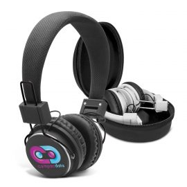 The Trends Collection Opus Bluetooth Headphones are full padded bluetooth headphones. 6 - 8 hours continuous play time. Great branded black or white headphones.