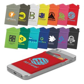 The Trends Collection Lycra House Phone Wallet is a soft, stretchy lycra wallet.  14 colours.  Heat transfer.  Great branded phone wallets for your clients.