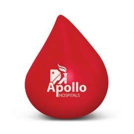 The Trends Collection Stress Blood Drop is a blood drop shaped squeezable stress reliever.  In Red.  1 colour print.  Great branded anti stress promo products.