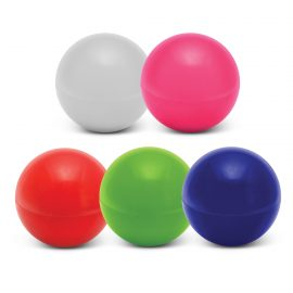 The Trends Collection Zena Lip Balm Ball is a trendy round 12gm lip balm with pleasant fragrance. 5 colours. Great branded practical health promo products.