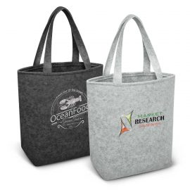 The Trends Collection Astoria Tote Bag is a fashion inspired medium size tote bag.  2 shades of grey.  Great branded poly felt tote bags for your event or clients.