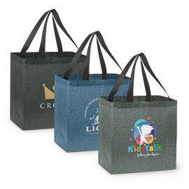 The Trends Collection City Shopper Heather Tote Bag is an affordable large reusable heather shopping tote bag.  3 colours.  Great branded heather tote bags.