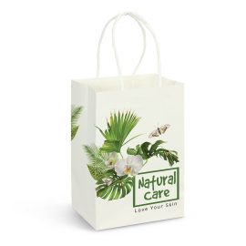 The Trends Collection Small Paper Carry bag is a small carry bag made from 160gsm paper.  Full colour branding.  Great branded promo retail product.