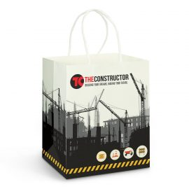 The Trends Collection Medium Paper Carry Bag is made from tough 190gsm paper.  Full Colour printing.  Great branded promotional retail bag product.