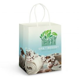 The Trends Collection Large Paper Carry Bag Full Colour is a large paper carry bag with strong rope handles.  In full colour.  Great branded retail paper bags.