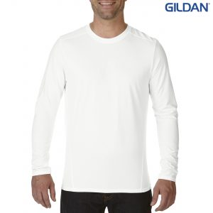 The Gildan Performance Adult Long Sleeve Tech Tee is an active fit, 159gsm polyester long sleeve tee. 3 colours. Great branded