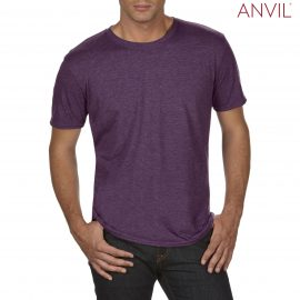 The Anvil Tri Blend Adult Combed Ring Spun Tee is a 159gm2 pre shrunk 50% polyester tee.  6 colours.  S - 3XL.  Great branded polyester/cotton tees.