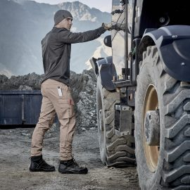 The Syzmik Mens Streetworx Curved Cargo Pant is a 98% Cotton 260gsm workwear pant.  Modern straight fit.  4 colours.  Great branded work pants from Syzmik.