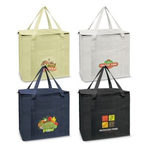 The Trends Collection Sierra Shopping Cooler is a classic supermarket style 19 litre cooler bag. 4 colours. Great branded large cooler bags.