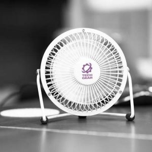 The Trends Collection Nexion Desk Fan is an affordable aluminium desk fan with adjustable airflow direction.  7 colours.  Great branded promo products.