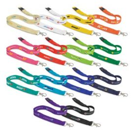 The Trends Collection Cotton Lanyard is a 20mm wide lanyard made from natural cotton.  14 colours.  Great branded cotton lanyards from Trends Collection.