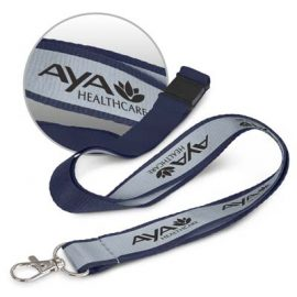 The Trends Collection Reflector Lanyard is a 20mm wide polyester lanyard with reflective strip on front.  14 colours.  Great branded reflective lanyards.