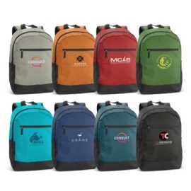 The Trends Collection Corolla Backpack is an on trend backpack in 8 colours.  2 external side pockets and zippered front.  Great branded backpacks from Trends Collection.