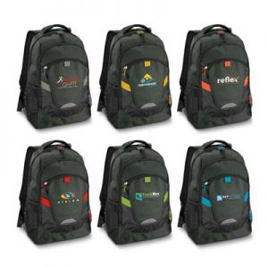 The Trends Collection Summit Backpack is an attention grabbing backpack with outstanding design and functionality. 6 colours. Great branded backpacks.