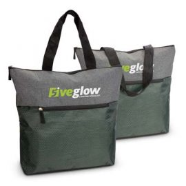 The Trends Collection Velocity Tote Bag is a sophisticated tote bag made from polyester. Distinctive front pocket. Grey. Great branded tote bags from Trends Collection.