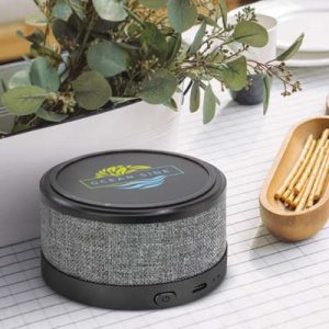 The Trends Collection Icarus Speaker Wireless Charger is a compact 3w bluetooth speaker with heather style finish.  Great branded wireless charging speakers.