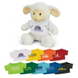 The Trends Collection Lamb Plush Toy is a soft lamb plush toy with tee.  9 colours.  Great branded awareness promo products from Trends Collection.
