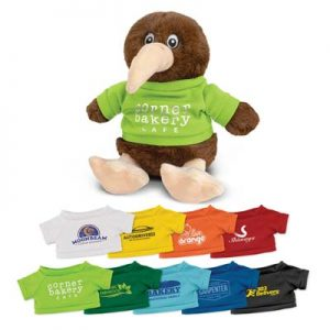 The Trends Collection Kiwi Plush Toy is a soft kiwi plush toy with tee in 9 colours.  Great brand awareness promo products from Trends Collection.