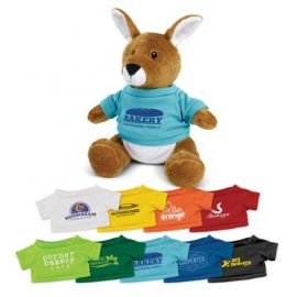 The Trends Collection Kangaroo Plush Toy is a soft kangaroo plush toy with a pouch and tee.  9 colours.  Great branded cuddly toys from Trends Collection.