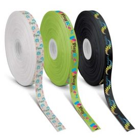The Trends Collection Personalised Ribbon 20mm - Full Colour is a 20mm wide ribbon with full colour branding on one side.  Great branded full colour ribbons.