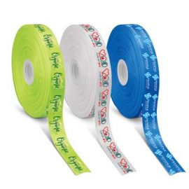 The Trends Collection Personalised Ribbon 50mm - Full Colour is a 50mm wide ribbon with full colour branding on one side.  Great branded full colour ribbons.
