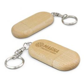 The Trends Collection Anco 4GB Flash Drive is a compact maple wood flash drive with key ring and magnetic cap closure. Great branded flash drives.